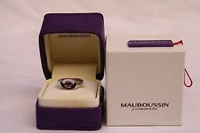 MAGNIFICENT BRAND NEW MAUBOUSSIN FRENCH 18K TOURMALN RING SIZE 6 WITH BOX