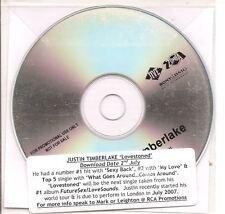 JUSTIN TIMBERLAKE Lovestoned 1 track PROMO ACETATE CD s