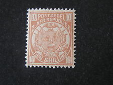 TRANSVAAL, SCOTT # 134, 10/- VALUE 2ND. REPUBLIC 1885-93 ISSUE MVLH