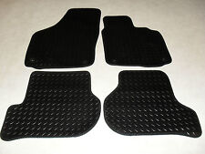 VW Scirocco 2008-on Fully Tailored Deluxe RUBBER Car Mats in Black