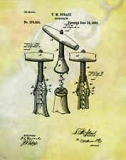 Wine Tasting Patent Poster Art Print Wine Rack Glasses Corkscrew Barrel PAT94
