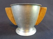 Antique Baby Cup Stainless Steel with Wood Handles