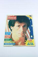 HAYAT #30 Turkish Magazine 1980s SYLVESTER STALLONE COVER Rare VINTAGE ADS Rocky