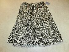 Laura Scott NWT BROOMSTICK SKIRT CHEETAH PRINT SIZE LARGE
