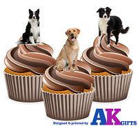 PRECUT Farm Animals Farm Dog 12 Edible Cupcake Toppers Decorations Birthday