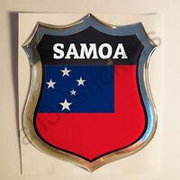 Pegatina Samoa 3D Escudo Emblema Vinilo Adhesivo Resina Relieve Coche Moto