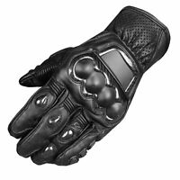 Men Protective Premium Leather Motorcycle Cruiser Street Biker Gloves