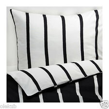Ikea King Tuvbracka Duvet Cover Pillowcase Black White Bed Set 502.615.56