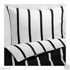 Ikea King Tuvbracka Duvet Cover Pillowcase Black White Bed Set 502.615.56
