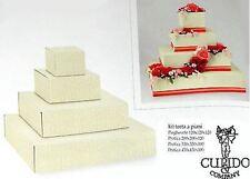 Scatola per bomboniere kit torta a piani ardesia avorio  - n 1 kit - art. 57636c