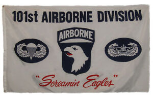 3x5 3'x5' 101st Airborne Division DIV Screaming Eagles White Military Army Flag