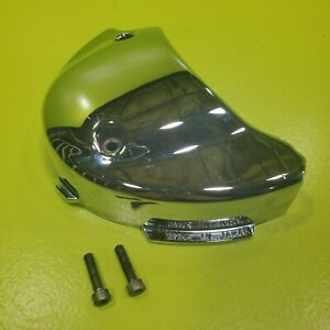 98-03 2002 Yamaha V Star VXS 650 Classic Left Chrome Side Engine Cover Front