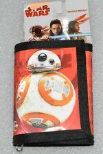Tri-Fold Wallet Star Wars BB-8 Boys Red Hologram