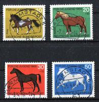 Bund 578 - 581 gestempelt Vollstempel Darmstadt BRD Satz Pferde 1969 used