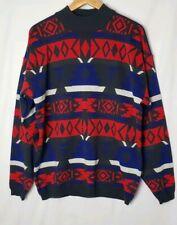 Vintage OSSI Skiwear Tribal Print Sweater Wool Blend Size XL