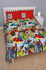 MARVEL COMICS JUSTICE DOUBLE REVERSIBLE DUVET COVER & PILLOWCASES BEDDING SET