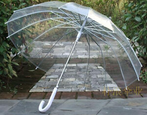 NEW 16super skeleton win-Transparent Clear Dome contracted umbrella Hot sell