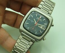 SEIKO MONACO 7016-5001 CHRONOGRAPH  AUTOMATIC 37X40mm STEEL VINTAGE WRIST WATCH