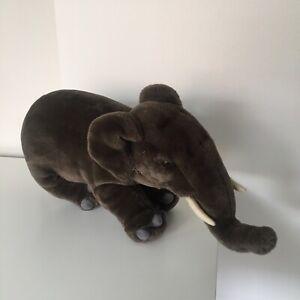 Melbourne Zoo Elephant Plush Toy Huge Vintage Hansa Soft Animal
