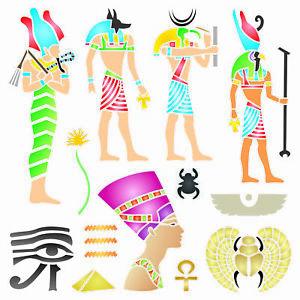 Egyptian Stencil Classic Egypt Symbol Hyroglyphics Stencils