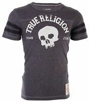 TRUE RELIGION Mens T-Shirt TRUE SKULL Washed Black $89 Jeans NWT