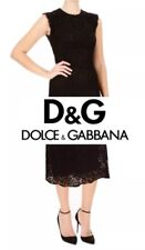 D&G Dolce & Gabbana Lace Dress Black Sleeveless Cocktail Size 40 (US 10)