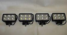 Work/Spot Lamp Light 4 x Universal LED 12V or 24V 18w Rectangular Wipac S7112LED