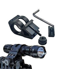 """New 1"""" inch 45 Degree Offset Side Flashlight Laser Rail Mount Tactical Picatinny"""