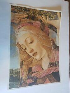"""VINTAGE Botticelli """"La Madonna Del Magnificat"""" printed IN ITALY"""
