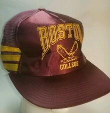 Vintage Boston College NCAA 3 Stripe Snapback Hat NCAA Made in USA Very RARE!!!