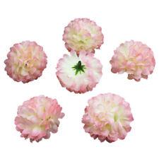 30x Carnations Craft Artificial Flower Silk Spherical Heads Wedding Decor - Ligh