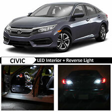 2013-2016 Honda Civic White Interior & Reverse LED Lights Package Kit