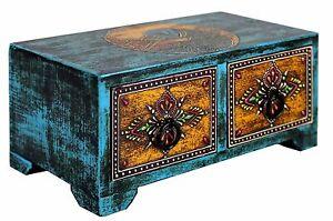 """Wooden Jewelry Tarot Trinket Box Home Decor L8"""" x W4"""" x H3.5"""""""