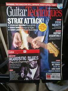 Guitar Techniques Magazine Feb 2009 161 trower Hackett stevie Ray Vaughan