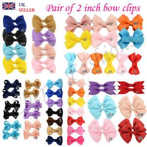 Cute Small Baby Girls kids Bow Clips Ribbon Handmade Hair Clip Elastic Bobbles