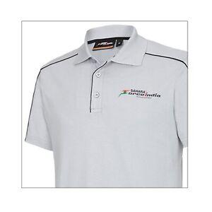 POLO Poloshirt Sahara Force India Formula One 1 Team Fan F1 NEW! Grey