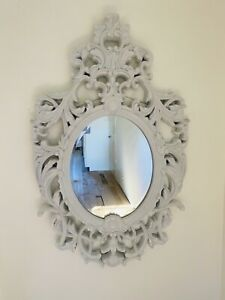 "Howard Elliot Collection Dorsiere 50"" X 31"" Glossy White Wall Mirror"