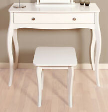 Lyon French Style White Dressing Table Stool 41cm 40cm 40cm
