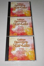 GOLDENE OPERETTEN STAR GALA 3 CD'S MIT PETER ALEXANDER HERMANN PREY LUCIA POPP