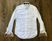 Burberry Brit Mens Nova Check Long Sleeve Button Down Shirt Size Small