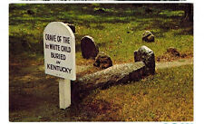 1960s postcard-Grave of 1st White Child Buried in Kentucky, Harrodsburg