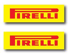 2x Pirelli Tieres Racing Decal Sticker 3m Vinyl Vehicle Window Wall Car