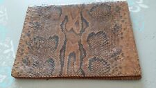 Porte-documents vintage véritable peau de serpent Tchad