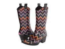 Blazin Roxx Womens Cowboy Rain Boots 58102 Chevron Kale Snip Toe Multicolor 6