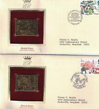 Great Britain 1031 - 1034 - British Fairs. Gold Replica Fdc. #02 Gb1031Fdcs