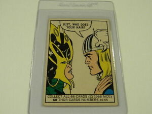 1966 DONRUSS Marvel Super Heroes Cards #60 THOR - Rare - RC - Excellent