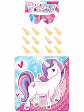 Stick The Horn On The Unicorn Game - Party Childrens Kids Pin Tail Activity