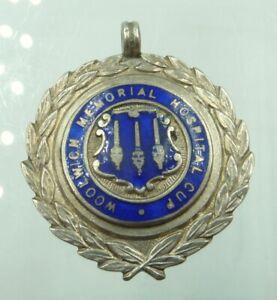 Vintage Enamel Sterling Silver Fob Medal Woolwich Memorial Hospital Cup Football