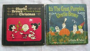 Charlie Brown / Snoopy / Peanuts / First Printing 1965 x 2 Books  Hardcover