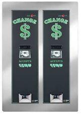 American Changer Ac2221 5600 Bill Changer Dual Hopper Amp Validator Rear Load